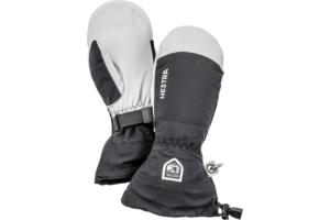 Hestra Army Leather Heli Ski Mitt Bra Tumhandske för skidåkning, tumhandske, svart,