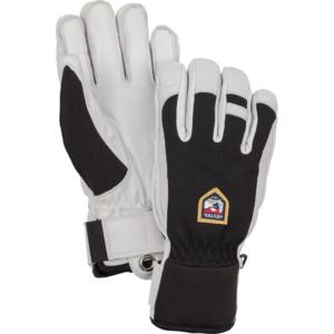 Hestra Army Leather Patrol 5 finger svart Varm bra skidhandske