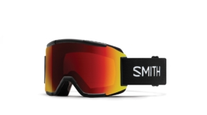 smith squad black chromapop sun red mirror, spegellins, skidglasögon, goggles