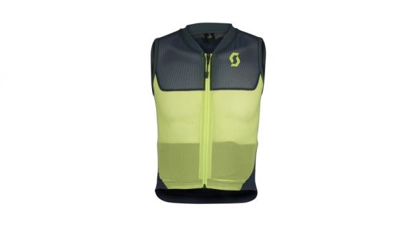 scott airflex jr vest protector blue nights lime front