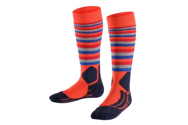 Falke SK2 Stripe Samba Orange bra skidstrumpa för barn och junior