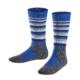 Falke SK2 Stripe Yve blue bra skidstrumpa för barn och junior