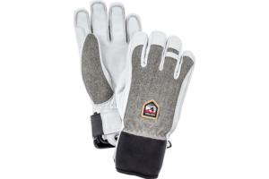 Hestra Army Leather Patrol 5 finger ljusgrå varm och skön handske, skidhandske, kort skidhandske