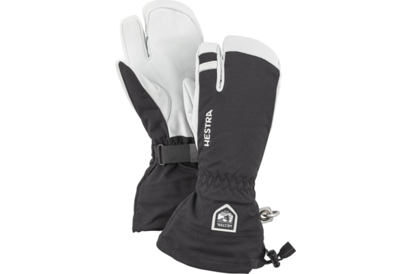 Hestra Army Leather Heli Ski 3 finger svart