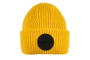 8848 Altitude Ethan Beanie Mustard stickad klassisk mössa med uppvik i gult