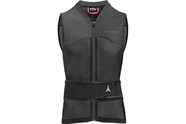 Atomic Live Shield vest amid All Black Front