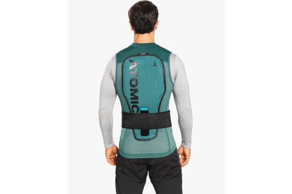 Atomic Live Shield vest amid Dark Green Back 2