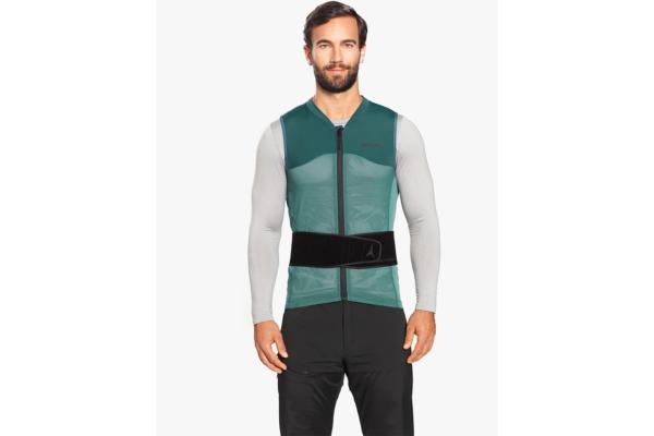 Atomic Live Shield vest amid Dark Green Front 2