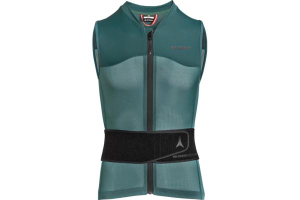 Atomic Live Shield vest amid Dark Green Front följsamt ryggskydd
