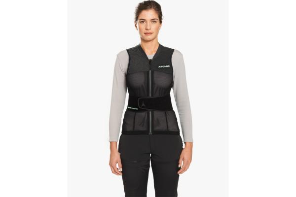 Atomic Live Shield vest amid W Black Front 2