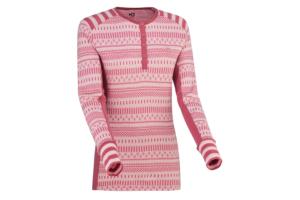 Kari Traa Åkle LS Lilac skön och varm underställs tröja i 100% ull