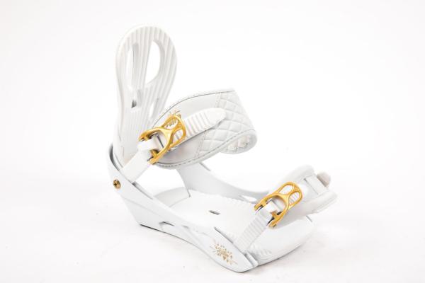 Nitro Rythm White Gold snowboard bindning för tjejer