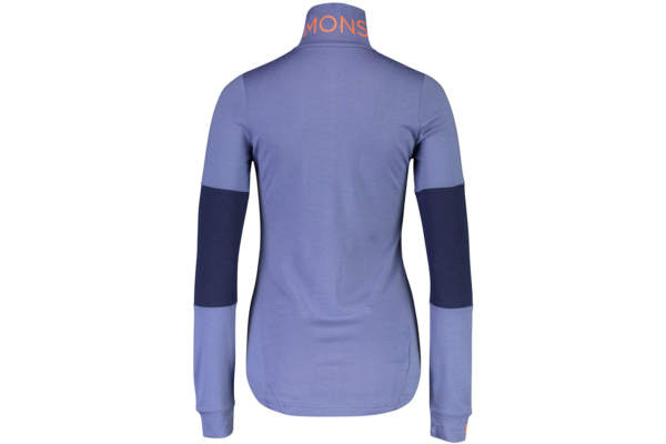 Mons Royale Cornice Halfzip blue velvet back