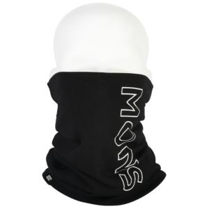 Mons Royale Double neckwarmer black varm och skön nack och halsvärmare för kalla dagar