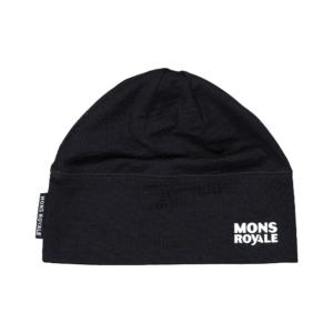 Mons Royale Tech Under Helmet Beanie Black skön funktions mössa att ha under hjälmen