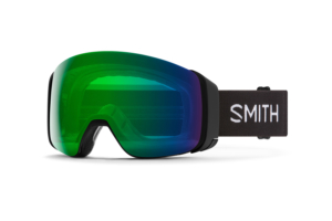 Smith 4D Mag Black Chromapop Everyday Green Mirror ruskigt bra skidglasögon med dubbla linser