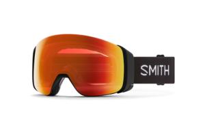Smith 4D Mag Black Chromapop Everyday Red Mirror skidglasögon med två bra linser
