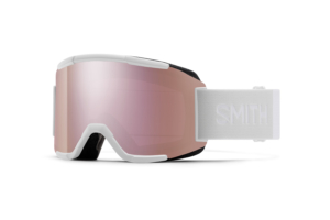Smith Squad White Vapor Chromapop Everyday Rose Gold Mirror snygga skidglasögon med bra lins