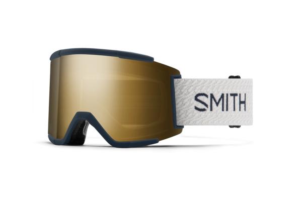 Smith Squad XL French Navy Mos Chromapop Sun Black Gold Mirror stora och trendiga skidglasögon