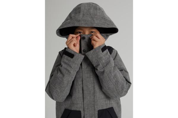 Burton Boys Dugout jacket bog Heather detalj