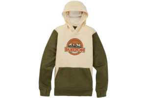 Burton Kids oak pullover hoodie heather martini olive heather snygg hood tröja