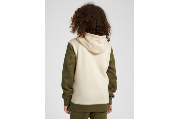 Burton Kids oak pullover hoodie heather martini olive heather back