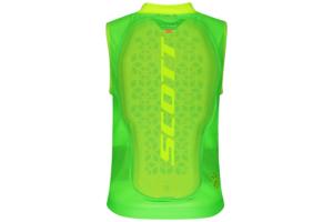 Scott AirFlex Jr Vest Protector high viz green ryggskydd