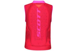 Scott AirFlex Jr Vest Protector high viz pink ryggskydd