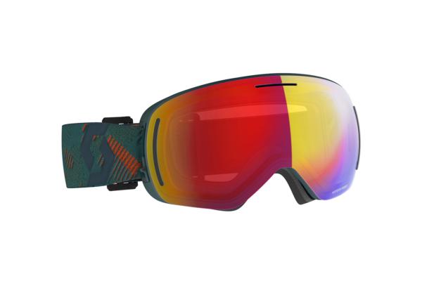 Scott Goggle LCG Evo sombre greenpumpkin orange enhancer red chrome