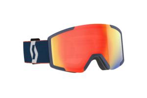 Scott Goggle Shield + extra lens retro bluered enhancer red chrome