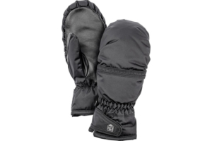Hestra Primaloft Leather Female mitt Svart