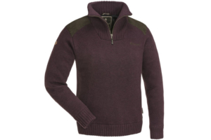 Pinewood-Womens-Sweater-Hurricane_Dark-Burgundy stickad frilufts tröja