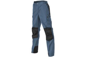 Pinewood-Kids-Trousers-Lappland_Steel-Blue-Black Friluftsbyxa