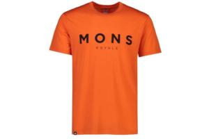 Mons Royale Icon Tee (Orange smash)