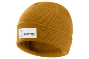 Salomon Outline Logo Beanie (Bronze Brown)