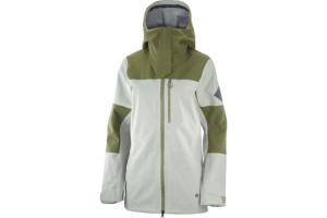 Salomon Stance 3L Jacket W (Wrought Iron Olive Night, Grön skaljacka dam