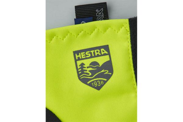 Hestra Runners All Weather 5-finger (Varselgul) detalj 2