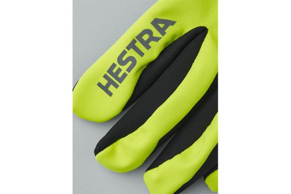 Hestra Runners All Weather 5-finger (Varselgul) detalj