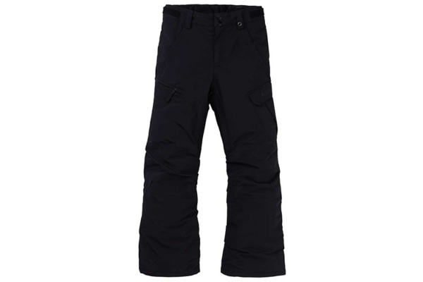 Burton Boys' Exile Cargo Pant True Black snowboardbyxa