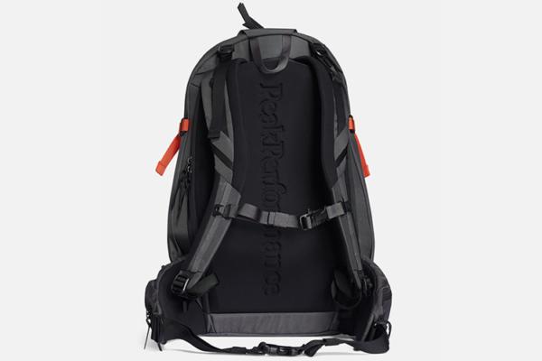 Peak Performance Vertical Ski Backpack Zeal Orange back