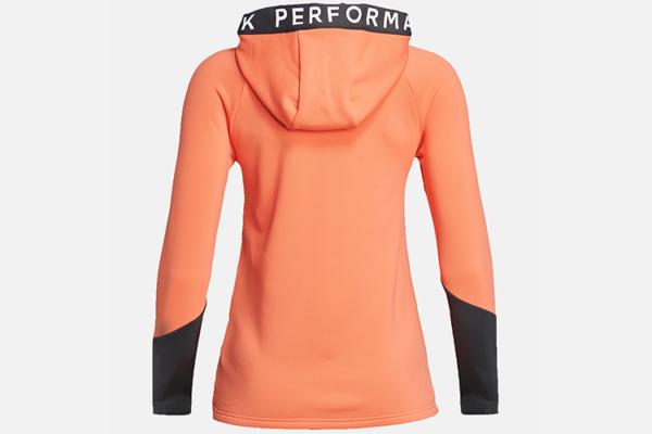 Peak Performance W Rider Zip Hood (Light Orange-Motion Grey)