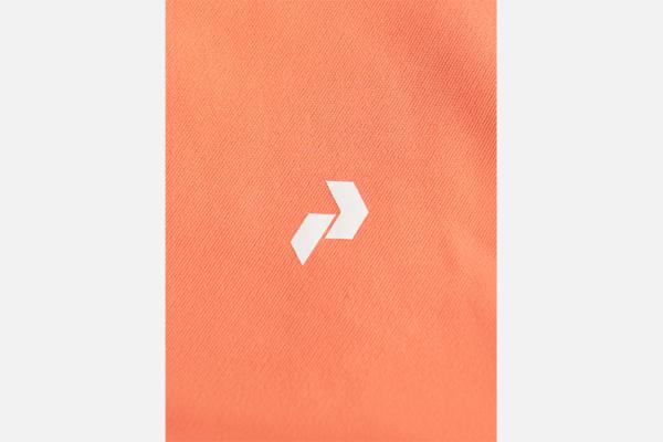 Peak Performance W Rider Zip Hood Light Orange-Motion Grey Detalj 3