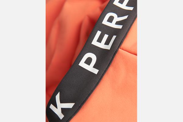 Peak Performance W Rider Zip Hood Light Orange-Motion Grey Detalj