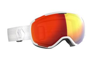 Scott Faze II white enhancer red chrome skidglasögon