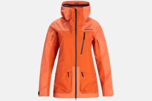Peak Performance W Vertical 3L Jacket Light Orange-Zeal Orange skid jacka